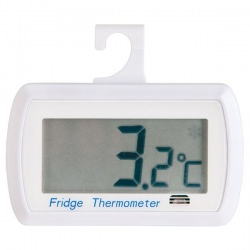 Imagén: Digital fridge thermometer with food safety zone indicator