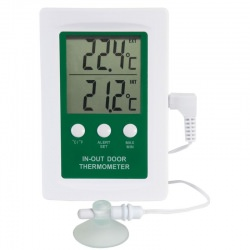 digital indoor - outdoor thermometer with alarm