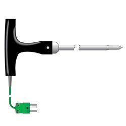 temperature probe T-shaped - asphalt or food processing