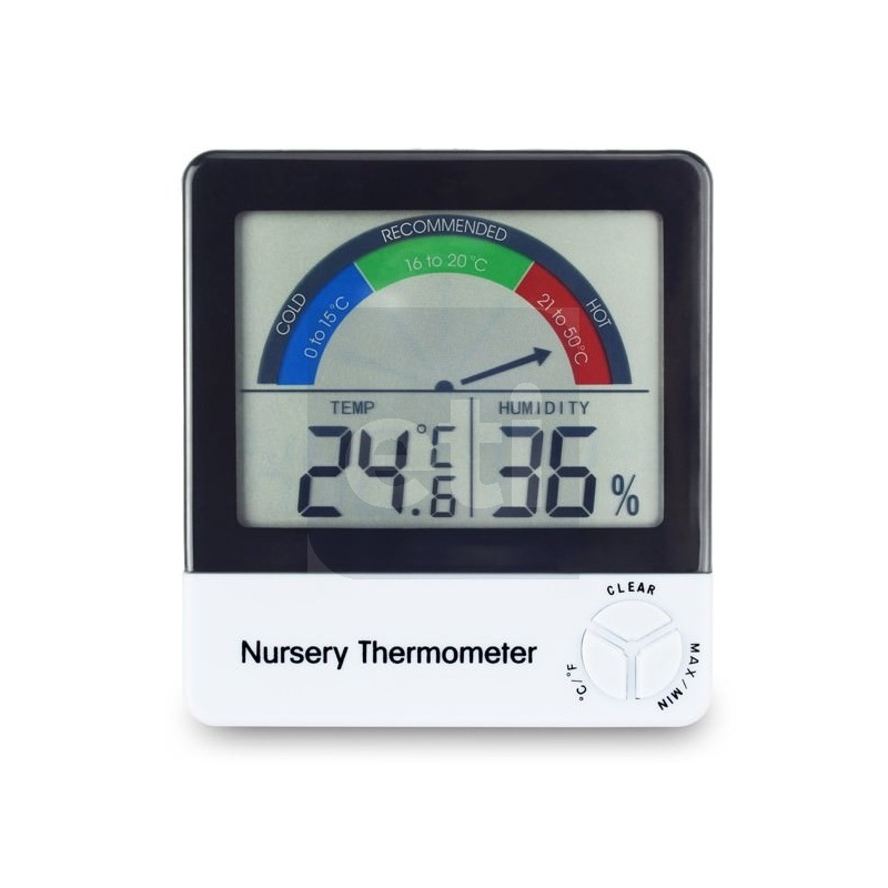 Nursery Thermometer For Monitoring A Baby S Room Temperature