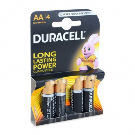 AA Duracell alkaline batteries - 4 pack