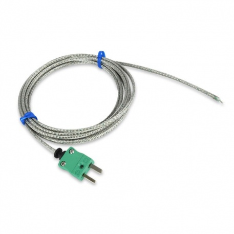 high temperature fibreglass wire probe - type K