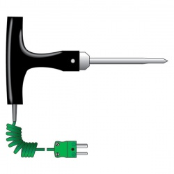 penetration probe T-shaped - straight lead