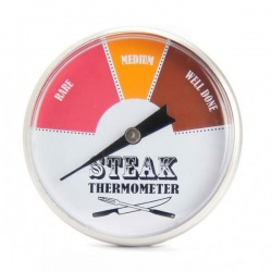 Stainless Steel Steak Thermometer 45mm Dial