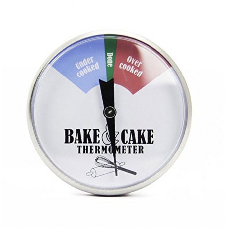 Stainless Steel Cake & Bake Thermometer 45mm Dial