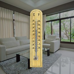 beechwood thermometer - 45 x 205mm