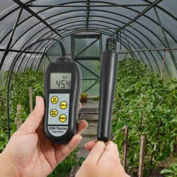6500 Therma hygrometer thermometer measures humidity & air temperature