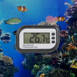 Aquarium thermometer with max min and temperature alarm