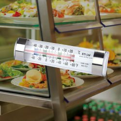 clear ABS fridge and freezer thermometer