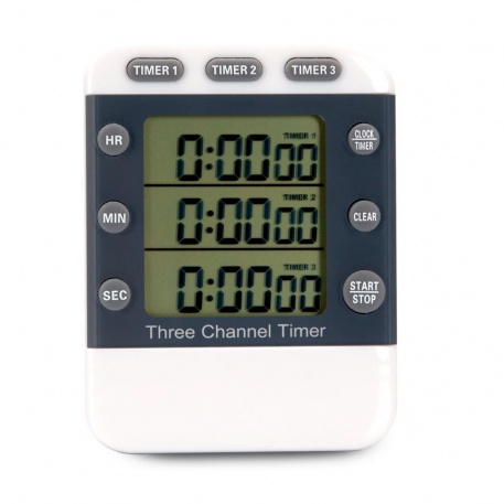 Three Channel Kitchen Timer with alarm
