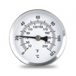 magnetic surface pipe thermometer