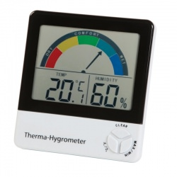 Therma-Hygrometer with comfort level indication