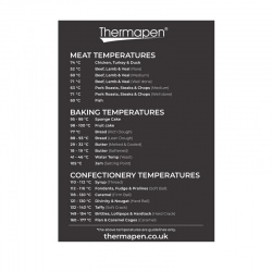 Temperature guide fridge magnet - magnetic meat temperature guide