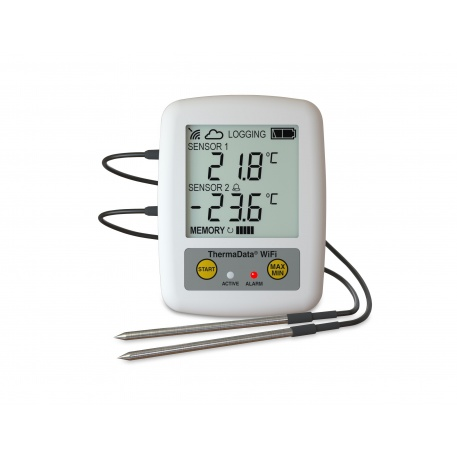WiFi Logger ThermaData TD2F - two channel thermistor logger